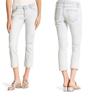 NWT Current Elliott The Cropped Straight Jeans 26